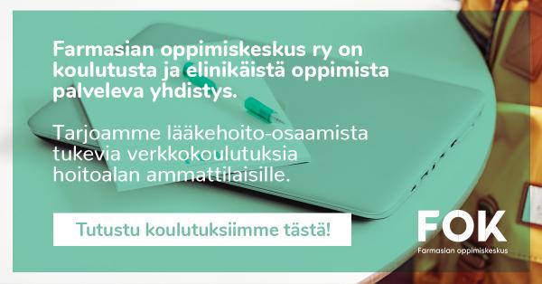 Tarjoamme lääkehoito-osaamista tukevia verkkokoulutuksia